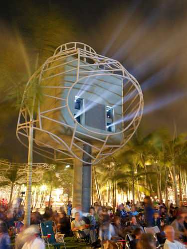 """Toll"" 5.1 surround outdoor soundcast at Art Basel Miami Beach"